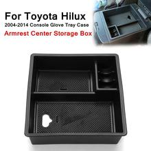 Для Toyota Hilux 2004-2014 подлокотник центр хранения коробка Пластик консоли перчатки лоток чехол встроенная 2 Нескользящие коврики организованной Форма