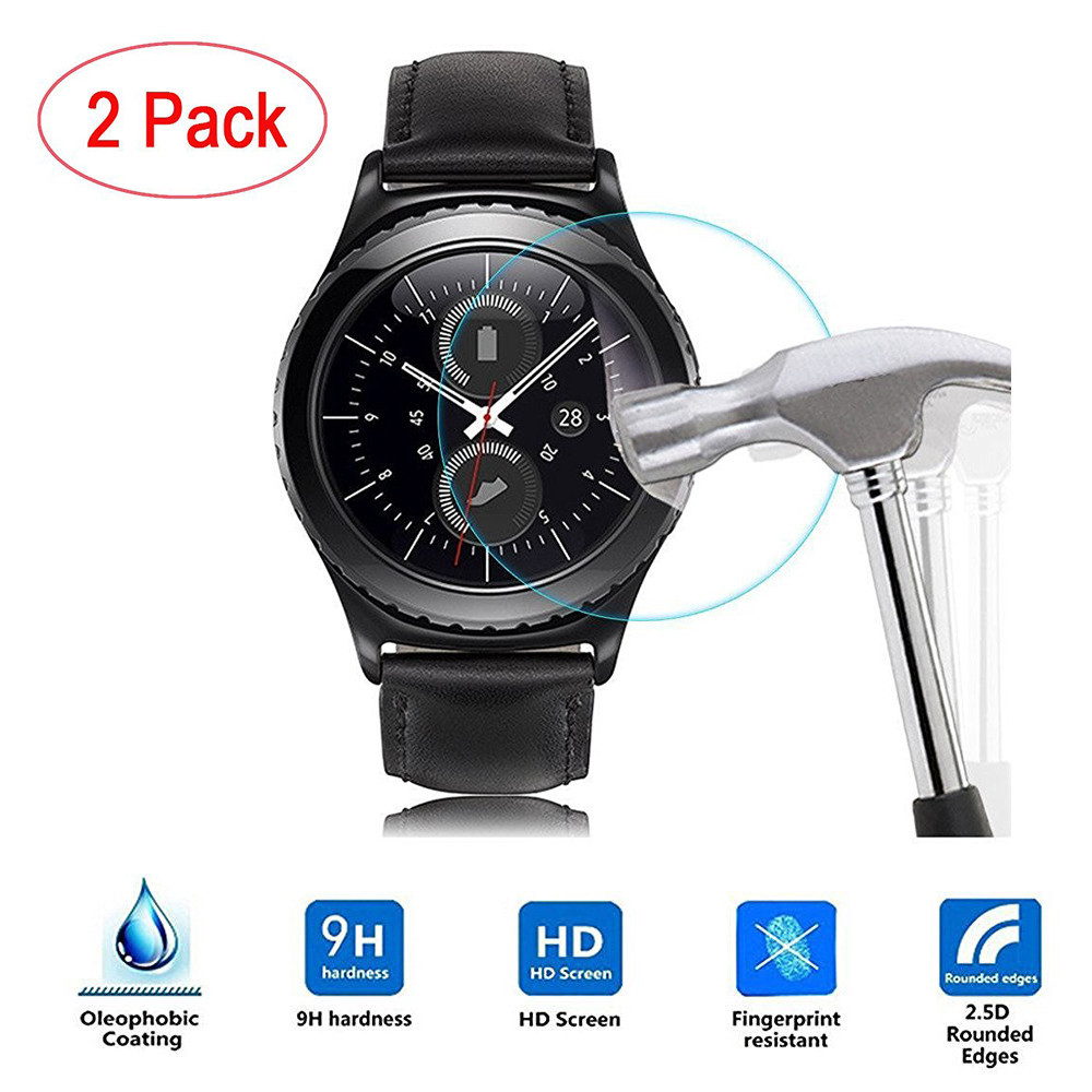 2017 2PC Frosted Scrub Screen Protector Film For Samsung Gear S3 Classic Specially Design 0120 смарт часы samsung gear s2 black