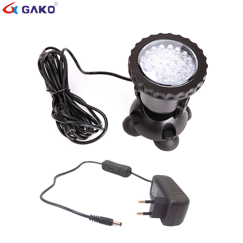 36 SMD RGB LED Underwater Light Fish Tank Spotlight Waterproof Swimming Pool Pond Lamps LED Aquarium Light Garden Spot Light