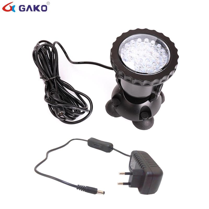 36 SMD RGB LED Underwater Light Fish Tank Spotlight Waterproof Swimming Pool Pond Lamps LED Aquarium Light Garden Spot Light