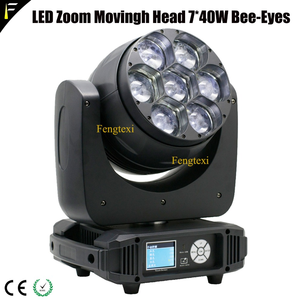 6x40w led zoom moving head light