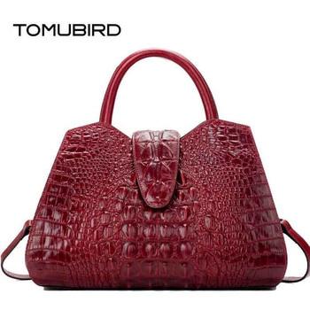 TOMUBIRD 2020 new superior leather embossed Crocodile designer famous brand women bag genuine leather tote handbags