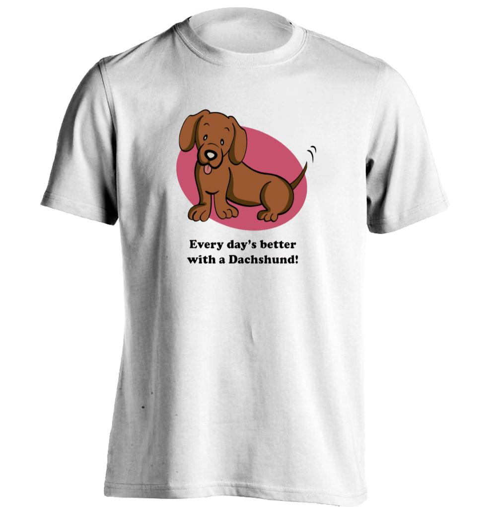 Design your own t-shirt for dogs - Dackel Teckel Dogs Mens Womens Personalized T Shirt Printing T Shirt China Mainland