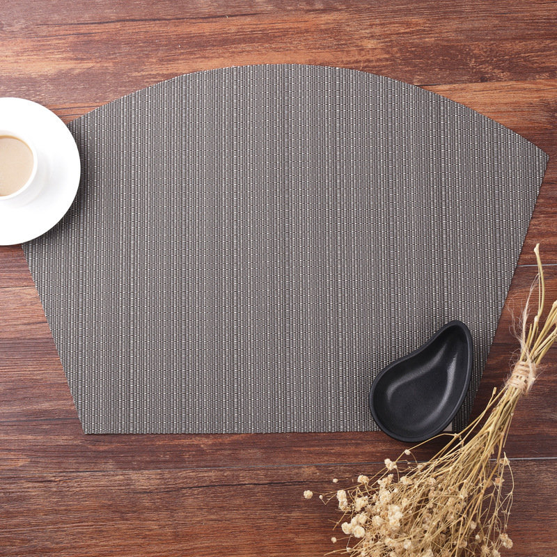 Sector PVC Bamboo Plastic Placemats for Dining Table Runner Linens place mat in Kitchen Accessories Cup Wine