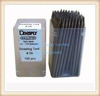 Free Shipping HOT SALE 100 Pcs Pack Beading Tool Set Jewelry Diamond Setting Tools Bead Grain
