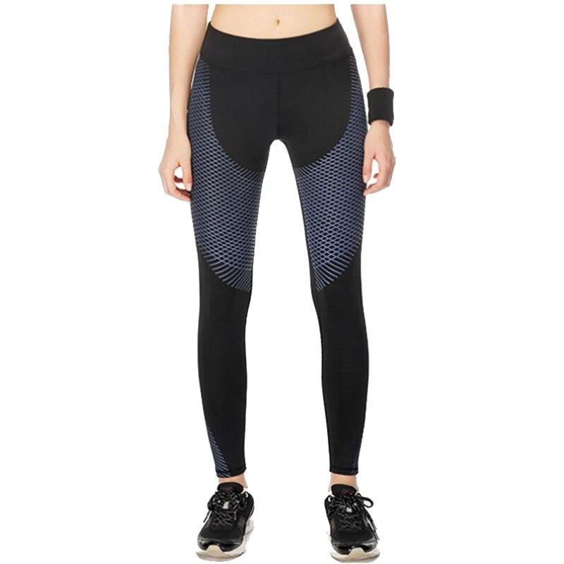 Gertu новый полосы печати спортивных Леггинсы для женщин Для женщин Strechy Activewear Брюки для девочек быстросохнущие Тренировки сжатия Брюки для д...