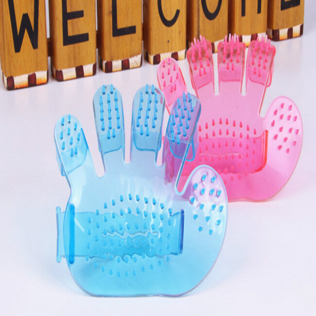 !New Fashion Pet Dogs Comb Comb Massage Bath Glove Pet Bath Brush Pet Products Wash Head Scalp Massage Brush 2