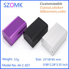 1 pc, 25*58*85mm free shipping electronics aluminum enclosure szomk distribution box extruded instrument enclosure aluminum case(China)