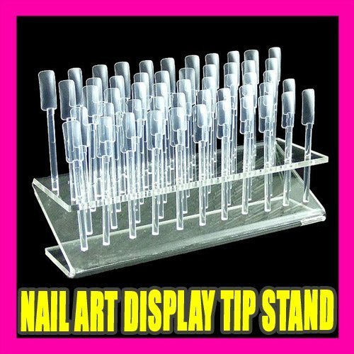 64 NAIL ART DESIGN COLOUR DISPLAY STAND RACK PRACTICE