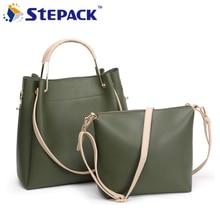 2017 European and American Fashion Female Combination Package Lady's Handbag Shoulder bag big Capacity Retro Fold Lash package