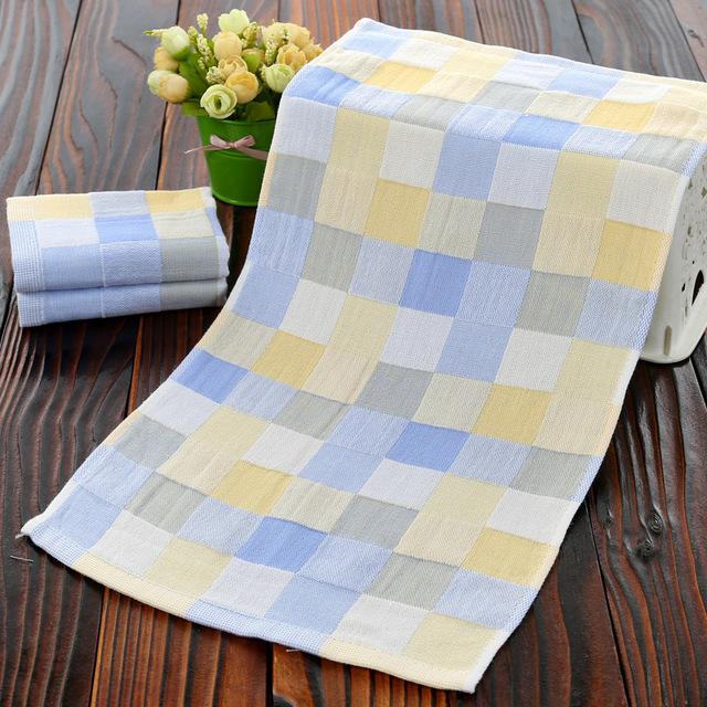 Plaid Soft Hand Towel
