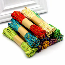 2mm 10meters/roll Gold Chinese Knot Cord Rattail Satin Braided String Jewelry Findings Beads Rope for DIY Crafts Party supplies