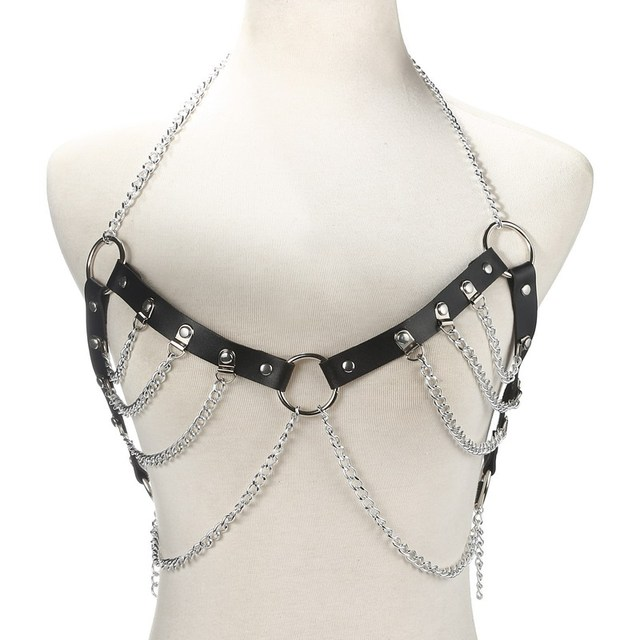 Faux Leather Body Chain...