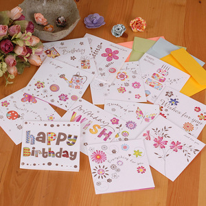 5pcs/set Korea Hollow Creative Teacher's Day Greeting Cards Birthday Greeting Cards Mini Greeting Cards