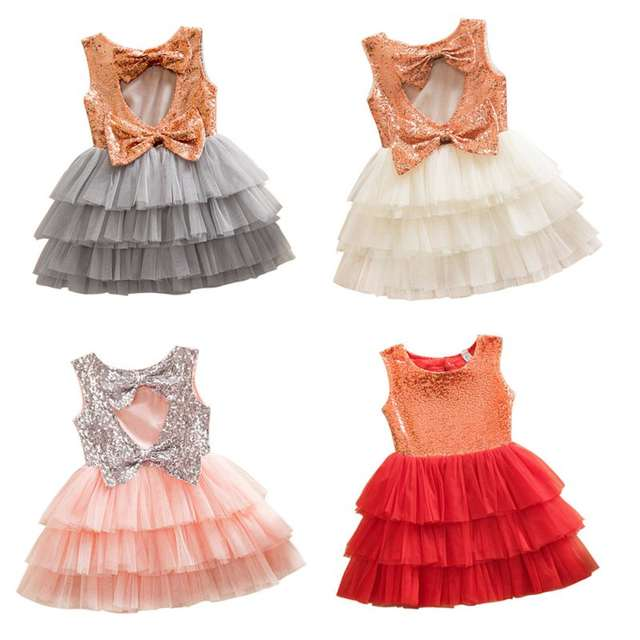 fc9adda7a6 BOBORA Summer Sleeveless Princess Cake Dress with Big Bow and Shining  Sequins