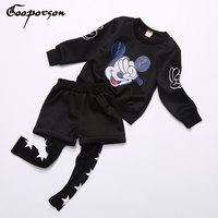 New Fashion Girls Autumn And Winter Tracksuit 2pcs Clothes For Baby Girl Cartoon Mouse Suit Children