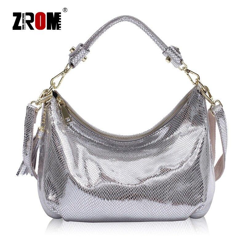 ZROM из брендовой натуральной кожи Для женщин Сумки Серпантин Модные Дамы топ-ручка сумка кожа небольшой Hobos Сумочка Курьерские сумки