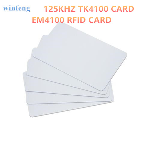 winfeng 1pcs EM4100 Proximity ID card 125KHZ RFID PVC Smart Card with TK4100 Chips for Access Control Time Attendance rfid contactless card proximity id card rfid iso pvc card time attendance for access control 125khz with tk4100 em4100 chip