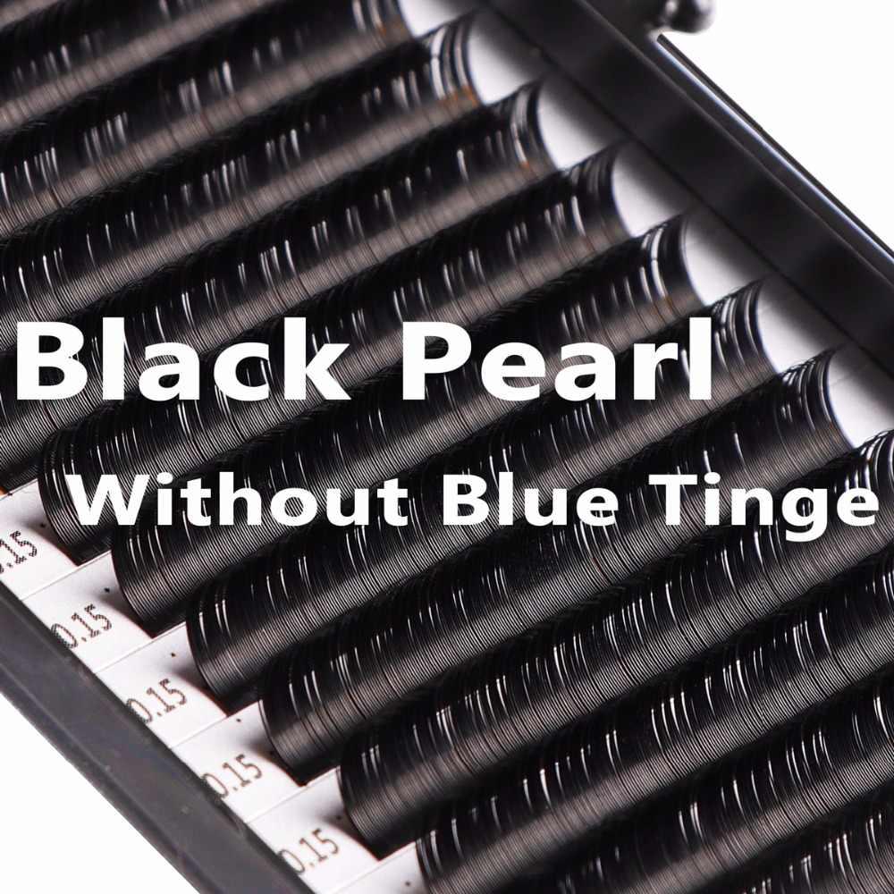 937e1748b49 Wholesale Black Pearl Individual Eyelash Extensions (No Blue Tinge) C D  Curly Handmade Wholesale Premium