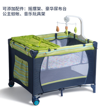 New Folding Crib Multifunctional Game Bed Portable Bunk Bed Baby Play Bed Baby Nest Kids Beds  Seguridad Infantil Cama  Fence 1