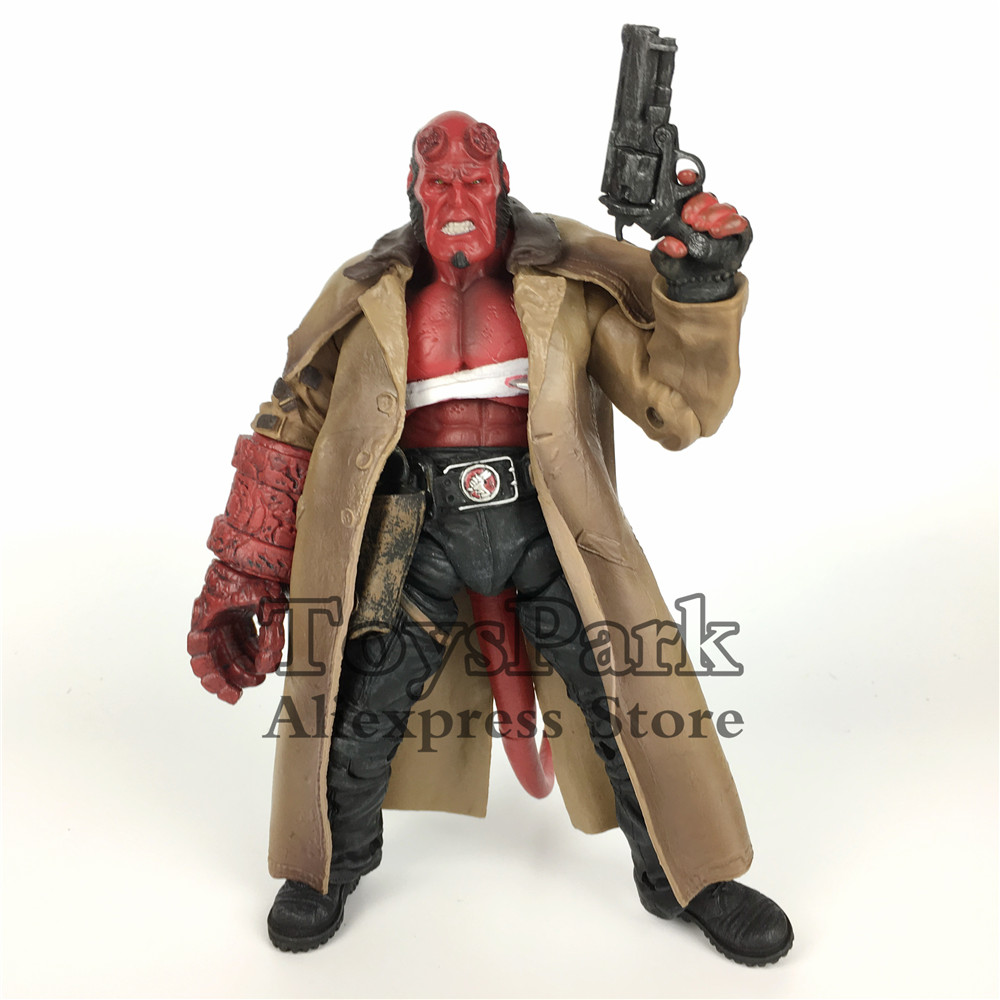ToysPark Wounded Hellboy HB 7 Action Figure Model With The Samaritan HandGun Collectible No Retail Box 20cm 7 hellboy action figure wounded hellboy includes samaritan handgun cool hb collectible model toy