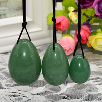 Jade Egg Drilled For Kegel Exercise 3pcs Natural Green Aventurine Pelvic Floor Muscles Vaginal Exercise Yoni