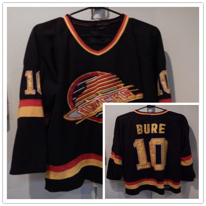 21607ed31ce VANCOUVER CANUCKS #10 PAVEL BURE Men's Hockey Jersey Embroidery Stitched  Customize any number and name