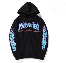 Neue winter warme 2016 harajuku sweatshirt männer thrasher hoodies männer hip hop hoodies Sweatshirts