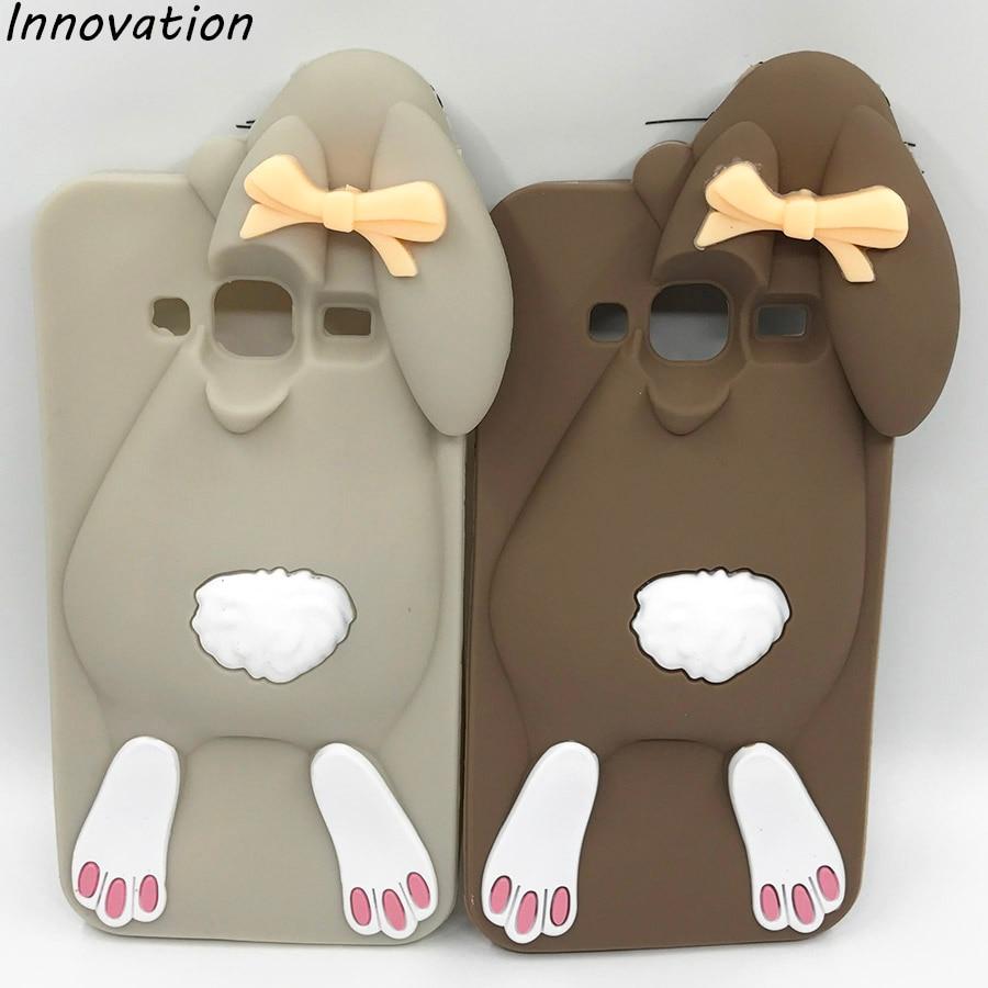 Galleria fotografica For Samsung Galaxy J3 Case For Samsung J3 2016 Cases Cover Silicon 3D Bunny Rabbit Protective Coque Fundas Skin Etui Accessories