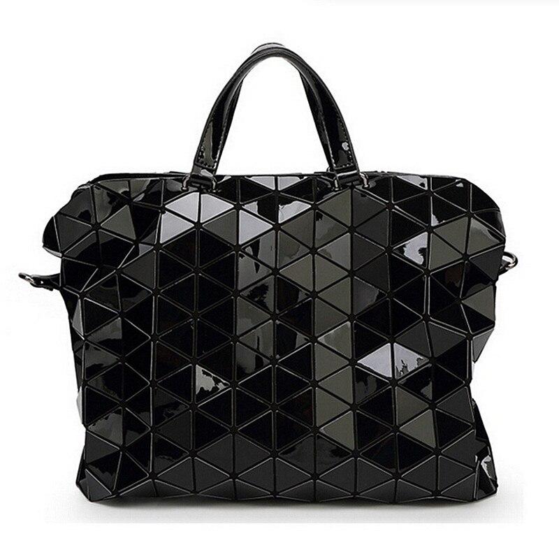 Fashion Women Diamond Lattice Briefcase Bag  Lady Casual Geometry Plaid Bag Shou