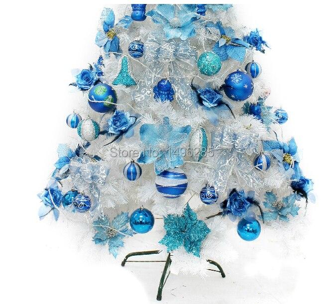 comprar de moda del rbol de navidad set noble azul rbol de navidad ornamento de interior exterior blanco rbol de navidad decoracin