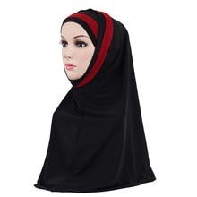 Muslim women wrap Inner Hijabs Scarf Hijab Shawl ScarvesHead Wrap coverings Head Islamic religious Masked headscarf