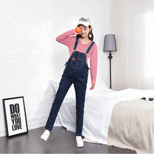 Denim Jeans Maternity Suspender Trousers Pant for Pregnant Women Clothes Plus Size Prop Belly Pregnancy Clothing Jumpersuit цена