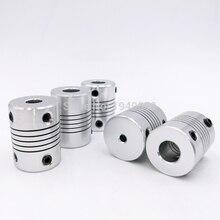 D19* L25 алюминиевая соединительная муфта Гибкая кулачковая 3/4/5/6/6,35/7/8/10 мм чпу шаговый муфта мотора кодеры гравировальный станок