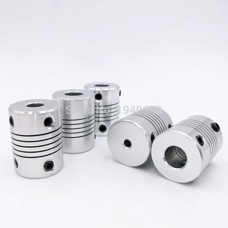 D19*L25 Shaft Coupling Aluminium flexible Jaw 3/4/5/6/6.35/7/8/10mm CNC Stepper Motor Coupler Encoders Engraving Machine
