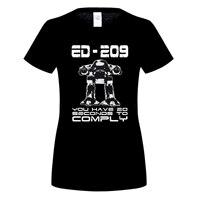 GILDAN 100% Cotone O-Neck T-Shirt stampata Robocop Maglietta ED 209 per la donna