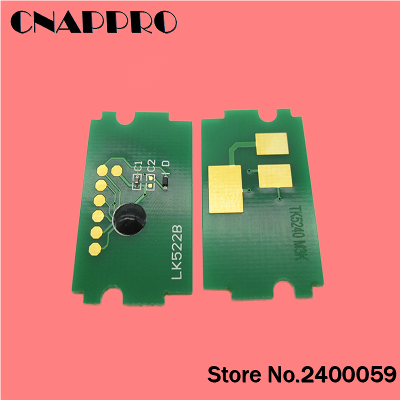 1set/lot TK-5230 TK5230 toner cartridge chip for Kyocera ECOSYS P5021dn P5021cdw M5521cdn M5521cdw P5021 M5521 5021 5221 chips