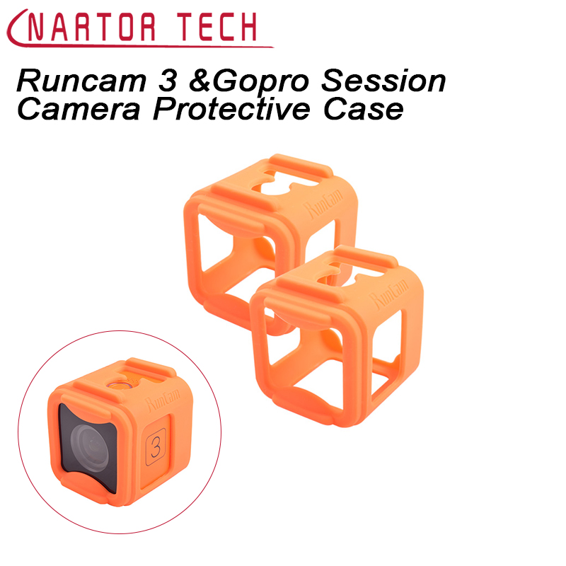 1pcs TPU Rubber Silicone Camera Protective Case to Protect Runcam 3 Camera &Gopro Session Camera for FPV Racing Drone