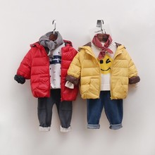 Girls Down Jacket ligth winter Baby coat outerwear korean plain solid Hooded Worm kids clothes children boutiques clothing
