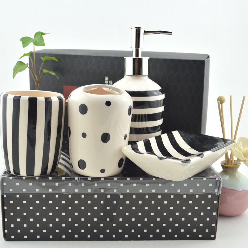 white and black bathroom accessories My Web Value