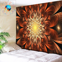 Psychedelic Flower Tapestry Bohemian Wall Hanging Decoration Wandkleed Mandala Chakra Hippie Fabric tapis mural