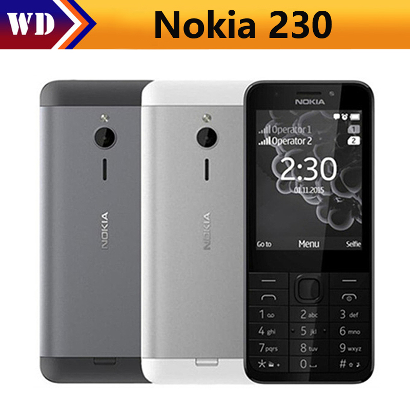230 Original Unlocked NOKIA 230 Dual-Sim Version Phone GSM Good Quality Refurbished Mobile Phone& Hebrew Arabic Russian keyboard(China)