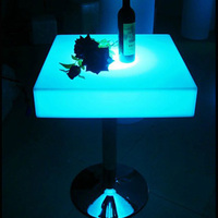 Skybess SK LF23 L60 W60 H106cm Rechargeable LED Furniture Bar Table With Height 106cm S S