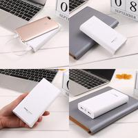 Durable Portable Large Capacity Dual USB Power Bank Mobile Power Cable Lighting Interface Micro 5V 2 1A 5V 1A 5V 2 1A