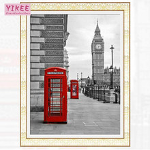 diamond painting square full,london clock,5d diamond painting full drill(China)
