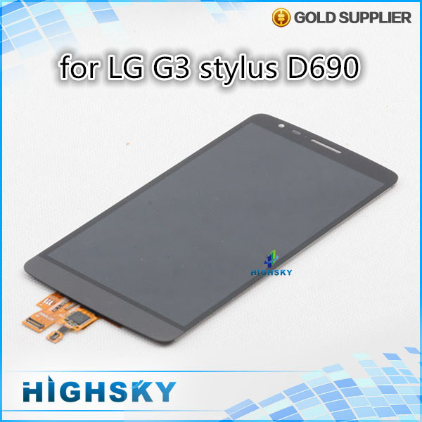 1 piece free shipping 100% new tested replacement part screen for LG G3 stylus D690 lcd with touch digitizer assembly