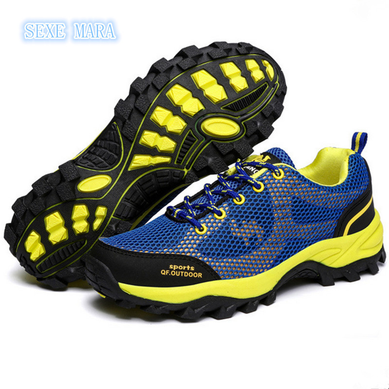2017 Breathable Outdoor Sports Shoes Men and Women Sneakers men Running shoes for men non-slip Off-road Jogging Walking Trainers  trainers men 2017 brand sneakers breathable running shoes outdoor blade sole sports shoes high quality non slip sneakers