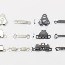 50 комплектов латунный крючок с серебряным покрытием среднего размера для брюк модный крючок для шитья одежды