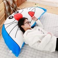 Cute Animal Plush Toy Doraemon Totoro Plush Pillow Soft Stuffed Polar Bear Elephant Back Cushion Cartoon Pillow Bed Linings Gift