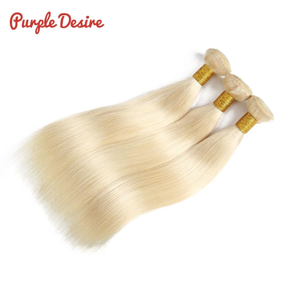 613 Bundles Blonde Straight Hair 3 4 Bundles Brazilian Human Hair Weave Bundles Remy Hair Extensions